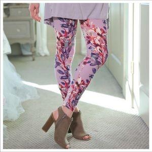 🌷Lilac Brushed Floral legging